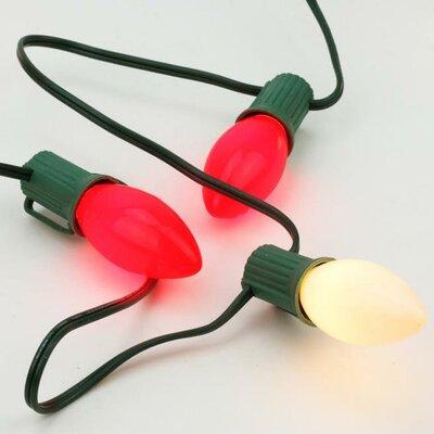 25 Light Opaque C9 Valentines Day Christmas Light