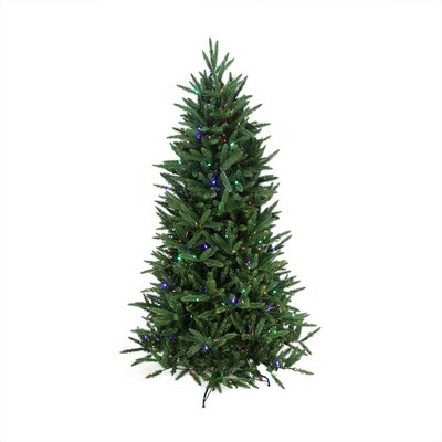 9' Pine Artificial Christmas Tree with Clear and Multi Lights