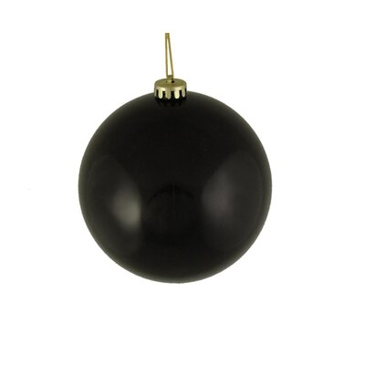 Shiny Shatterproof Christmas Ball Ornament Color: Jet Black