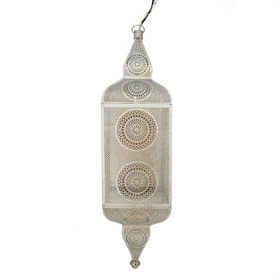 Moroccan Style 1-Light Mini Pendant Color: Distressed White/Gold