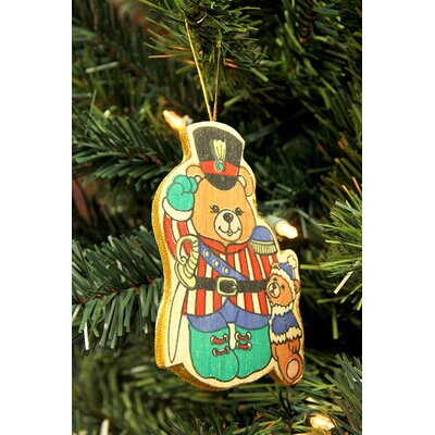 Bear Soldier Wooden Christmas Ornament 3470 BEAR SOLDIER