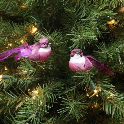 Mauve Bird Christmas Ornament JA83804