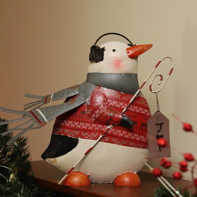 "Penguin in Sweater with Candy Cane ""Joy"" Sign Christmas Decoration 2158060"