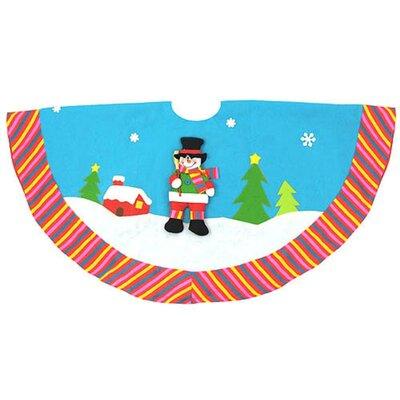 Winter Wonderland Snowman Christmas Tree Skirt