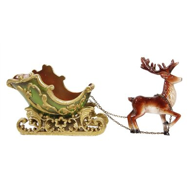 Elegant Sleigh with Reindeer Christmas Decoration