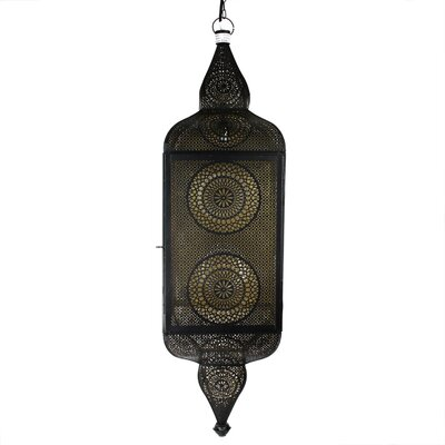 Moroccan Style 1-Light Mini Pendant Color: Black/Gold
