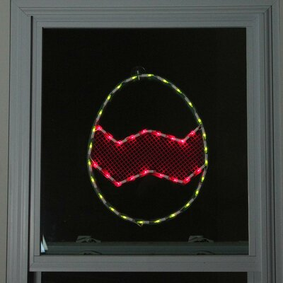 Lighted Easter Egg Window Silhouette Decoration