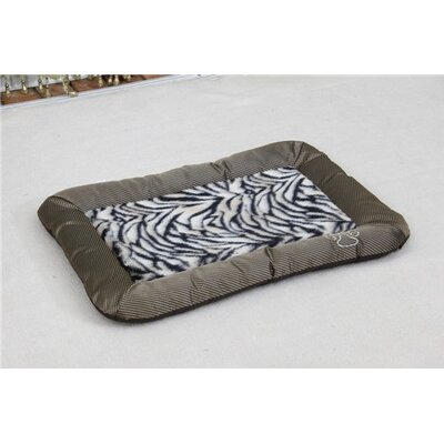 Luxurious Zebra Faux Fur Waterproof Oxford Sleeper Dog Mat Size: Medium (26 L x 18 W)