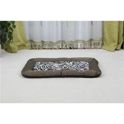 Luxurious Zebra Faux Fur Waterproof Oxford Sleeper Dog Mat Size: Large (32 L x 22.75 W)