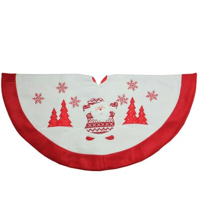 Knit Santa Claus Embroidered Christmas Tree Skirt THLA6729 40271526