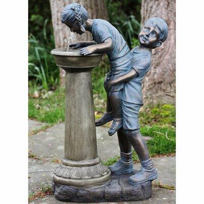 Polystone Fun at the Fountain Outdoor Water Fountain 32588282