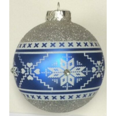 Nordic Pattern Glass Ball Ornament THDA7631 43376989