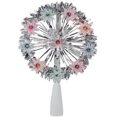 Tinsel Snowflake Starburst Christmas 10 Light Tree Topper THDA7242 43374994