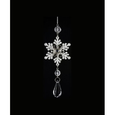 "6.5"" Ice Palace Snowflake with Teardrop Gem Pendant Christmas Shaped Ornament THDA7536 43375435"