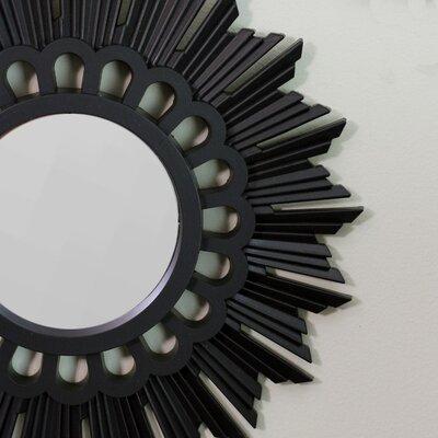 Rohrer Flower Sunburst Inspired Round Accent Mirror VRKG7231 43375544