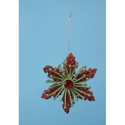 Christmas Bright's Glitter Drenched Poinsettia Shaped Ornament THDA7449 43375342