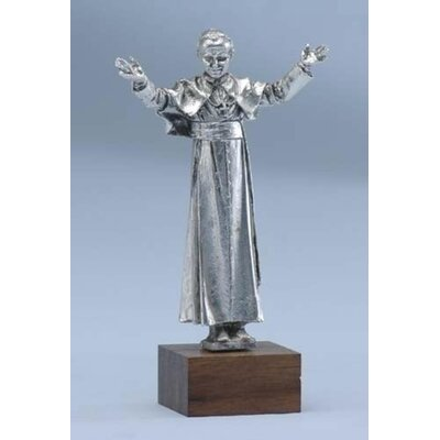 Pope John Paul II Silver Plated Pewter Tabletop Figurine THDA7081 43374825