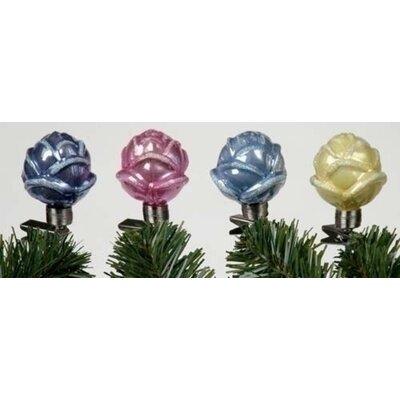 Iridescent Rosebud Clip on Glass Christmas Hanging Figurine THDA6956 43374587