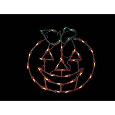 "18"" Pumpkin Thanksgiving Window Silhouette Decoration Lighted Display THDA7106 43374850"