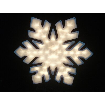 "20"" Snowflake Christmas Window Silhouette Decoration Lighted Display THDA7110 43374854"