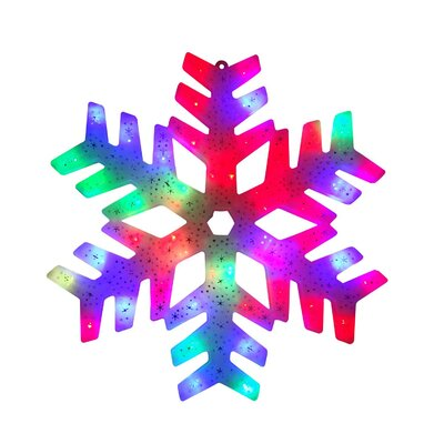 "15"" Changing Christmas Snowflake Window Silhouette Lighted Display THDA7112 43374856"