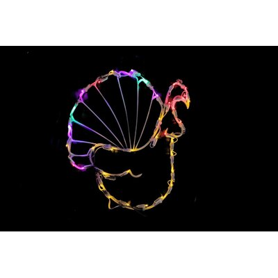 "18"" Turkey Thanksgiving Window Silhouette Decoration Lighted Display THDA7105 43374849"
