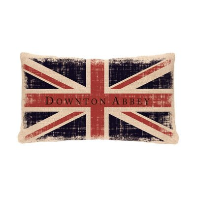 Downtown Abbey British Union Jack Decorative Rectangular Throw Pillow