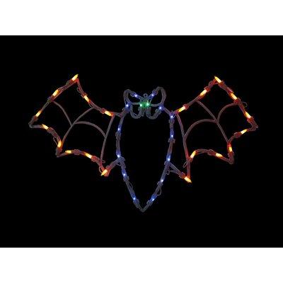 "15"" Bat Halloween Window Silhouette Decoration Lighted Display THDA7109 43374853"