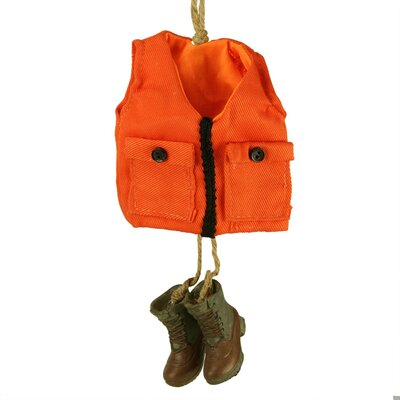 """6"""" Hunting Vest with Matching Boots Christmas Hanging Figurine LOPK7406 43375538"""