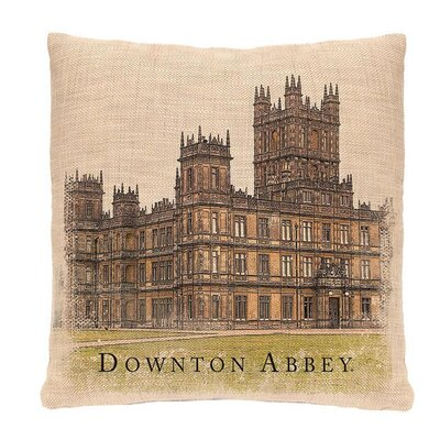 Downtown Abbey British Highclere Castle Decorative Square Throw Pillow
