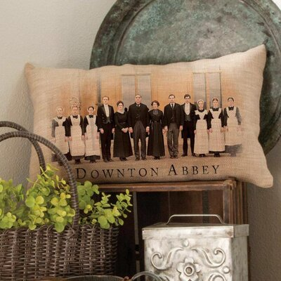Crear Downtown Abbey Cast British Decorative Lumbar Pillow
