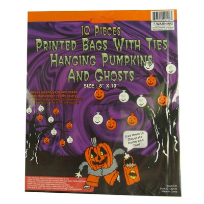 Pumpkin and Ghost Hanging Halloween Bag Decoration 20140