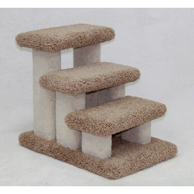 Doggie Carpeted 3 Step Pet Stair