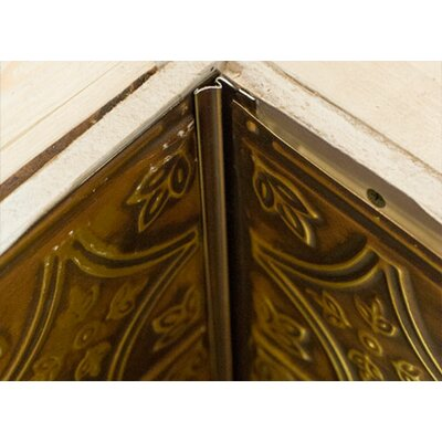 48 x 5 Metal Corner Molding Tile Trim in Gold/Brushed Bronze