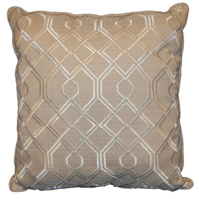 Geo Throw Pillow Color: Ivory