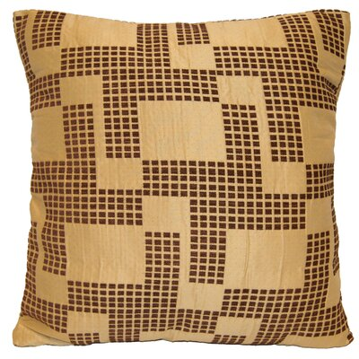 Holland Chenille Throw Pillow Color: Brown