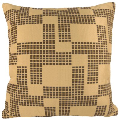 Holland Chenille Throw Pillow Color: Gray