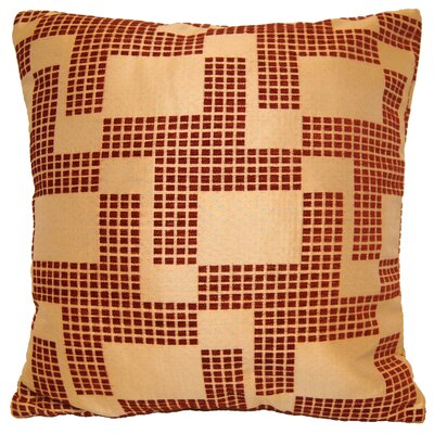Holland Chenille Throw Pillow Color: Red