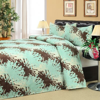 Olympia Microplush 3 Piece Quilt set Size: Queen / King