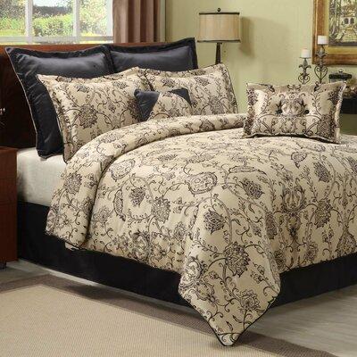 Corine 8 Piece Comforter Set Size: Queen
