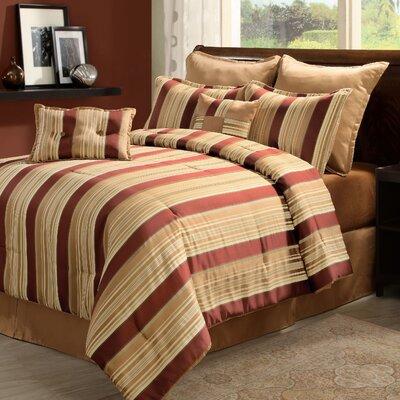 Oasis Break-Up 8 Piece Comforter Set Size: King