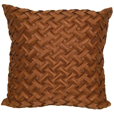 Basketweave Throw Pillow Color: Chocolate
