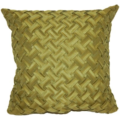 Basketweave Throw Pillow Color: Green