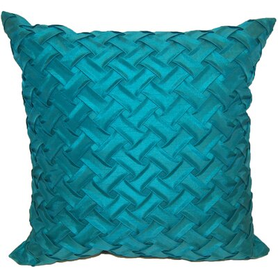 Basketweave Throw Pillow Color: Mineral