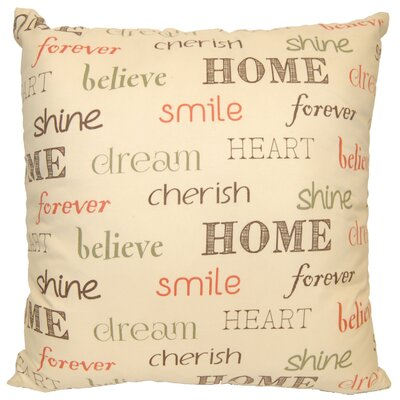 Inspire Decorative Throw Pillow Color: Ivory