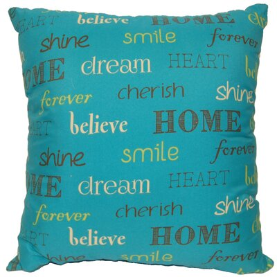 Inspire Decorative Throw Pillow Color: Teal