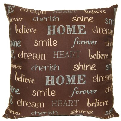 Inspire Decorative Throw Pillow Color: Chocolate