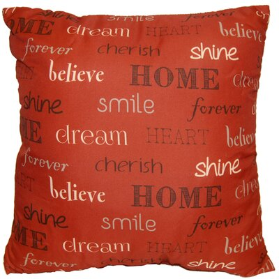 Inspire Decorative Throw Pillow Color: Burnt Red