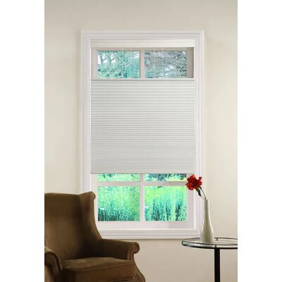 Top Down/Bottom Up Cordless Honeycomb Semi-Sheer Cellular Shade Blind Size: 36 W x 64 L, Color: White