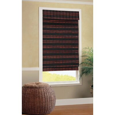 Java Brown/Black Roman Shade Blind Size: 23 W x 72 L
